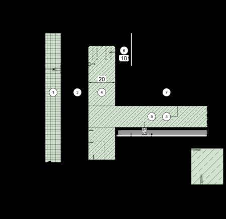 attika terrasse detail. Black Bedroom Furniture Sets. Home Design Ideas